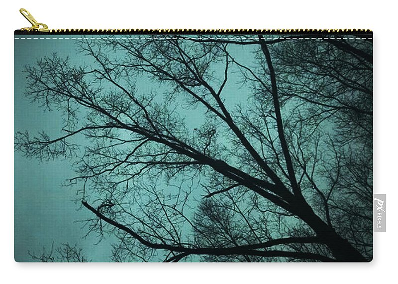 Trees Carry-all Pouch featuring the photograph Contrasted Trees by Maggie Cersosimo