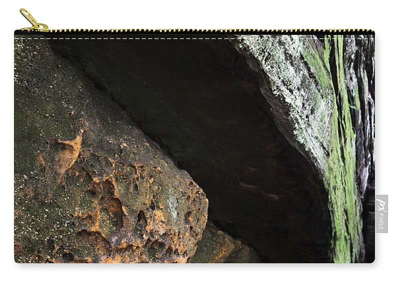 Rocks Carry-all Pouch featuring the photograph Convergence by Amanda Barcon