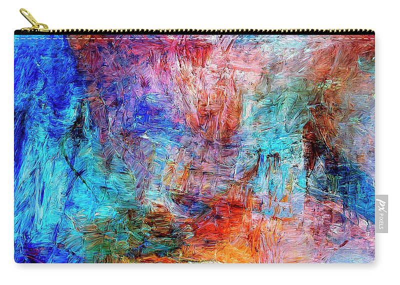 Abstract Carry-all Pouch featuring the painting Convergence by Dominic Piperata