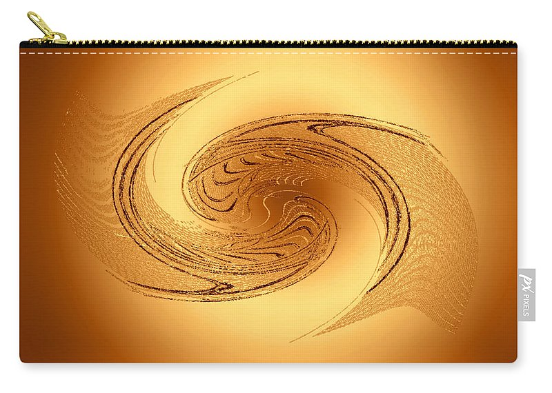 Orange Carry-all Pouch featuring the digital art Convergence by Don Quackenbush