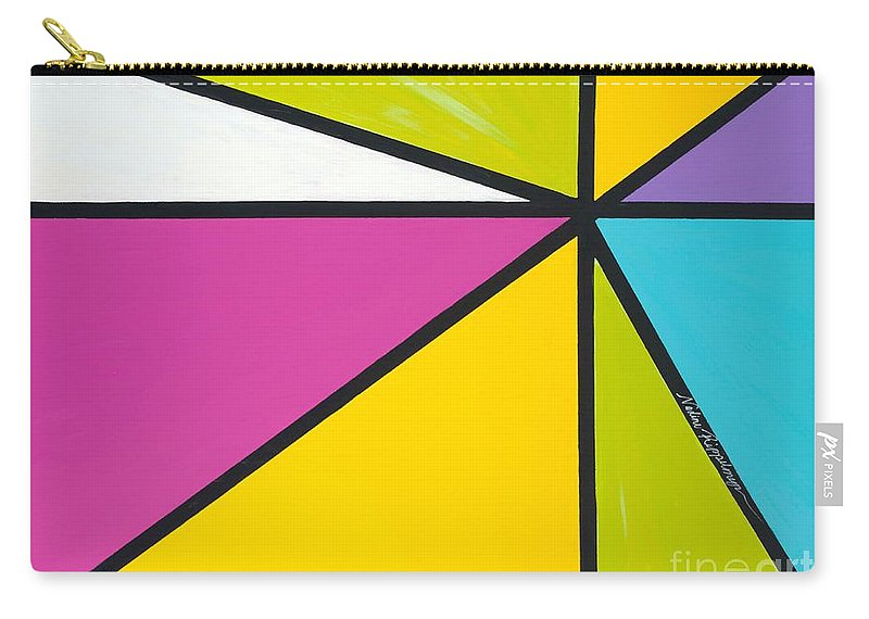 Lines Carry-all Pouch featuring the painting Convergence by Nadine Rippelmeyer