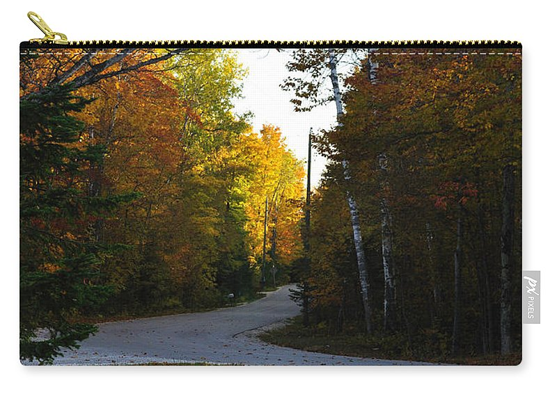 Fall Carry-all Pouch featuring the photograph Convergence by Tim Nyberg