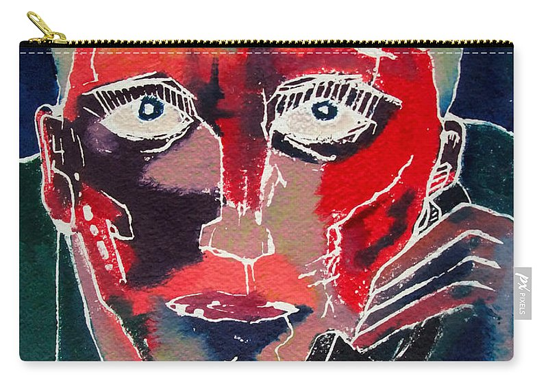 Phone Carry-all Pouch featuring the painting Conversation by David Studwell