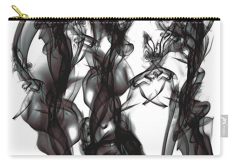 Clay Carry-all Pouch featuring the digital art Conversations by Clayton Bruster