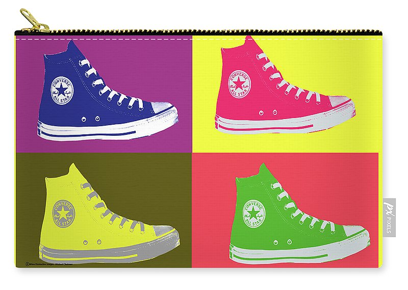 Apéndice Trueno roble  Converse Pop Art Carry-all Pouch for Sale by Michael Chatman