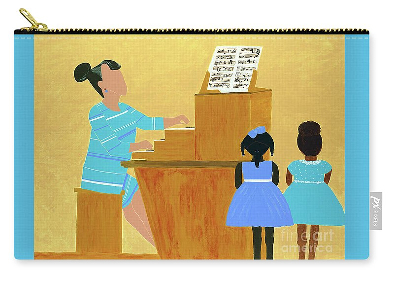 Spelman Carry-all Pouch featuring the painting Convocation by Kafia Haile