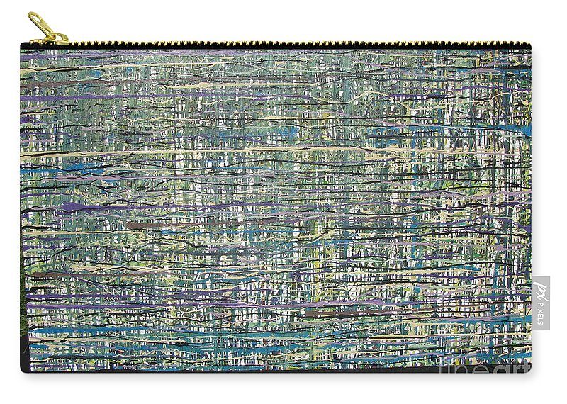 Carry-all Pouch featuring the painting Convoluted by Jacqueline Athmann