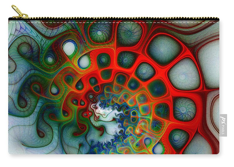 Digital Art Carry-all Pouch featuring the digital art Convolutions by Amanda Moore