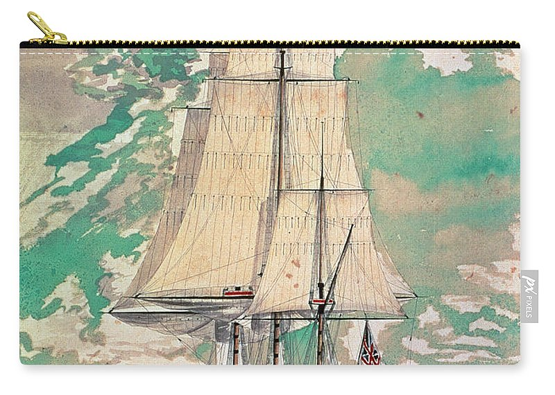 1770s Carry-all Pouch featuring the photograph Cook: Hms Resolution by Granger