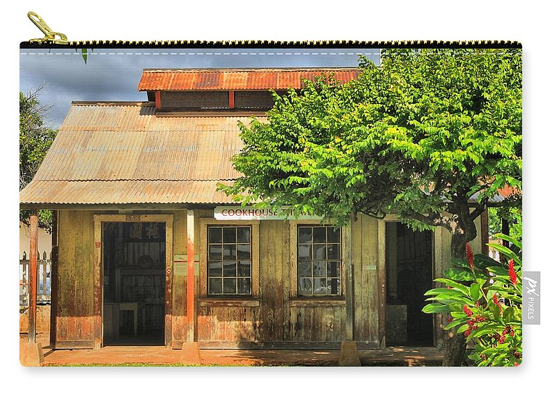 Lahaina Carry-all Pouch featuring the photograph Cookhouse Theater Lahaina by DJ Florek