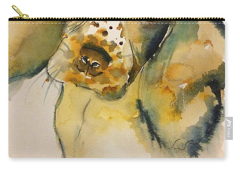 Dog Carry-all Pouch featuring the painting Cookie by LJ Claudet