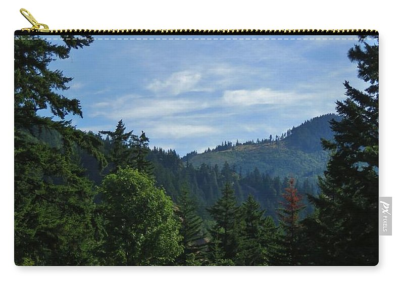 Vista Carry-all Pouch featuring the photograph View Of Underwood Mountain by Mel Manning