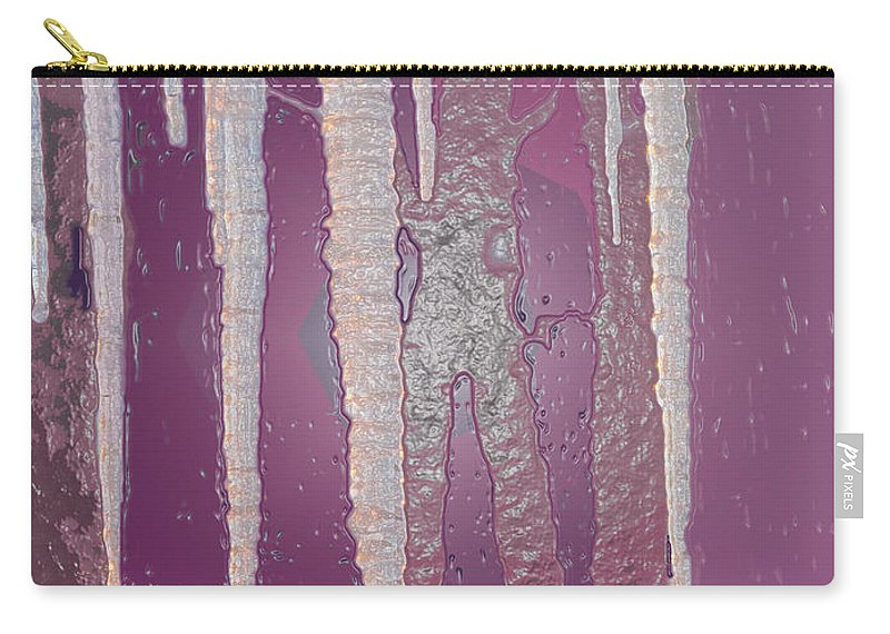 Icicles Carry-all Pouch featuring the photograph Cool As Ice by Ian MacDonald