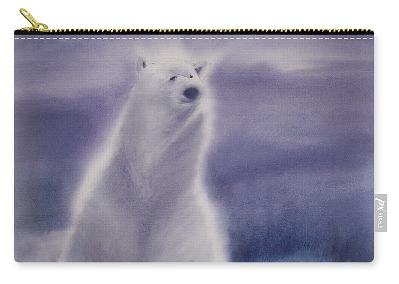 Bear Carry-all Pouch featuring the painting Cool Bear by Allison Ashton