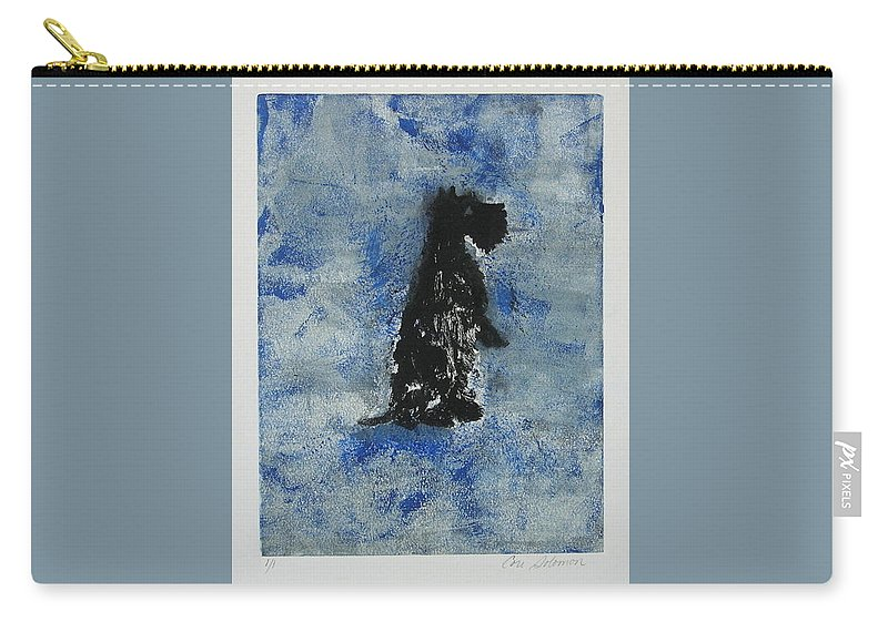 Monotype Carry-all Pouch featuring the mixed media Cool Blue by Cori Solomon