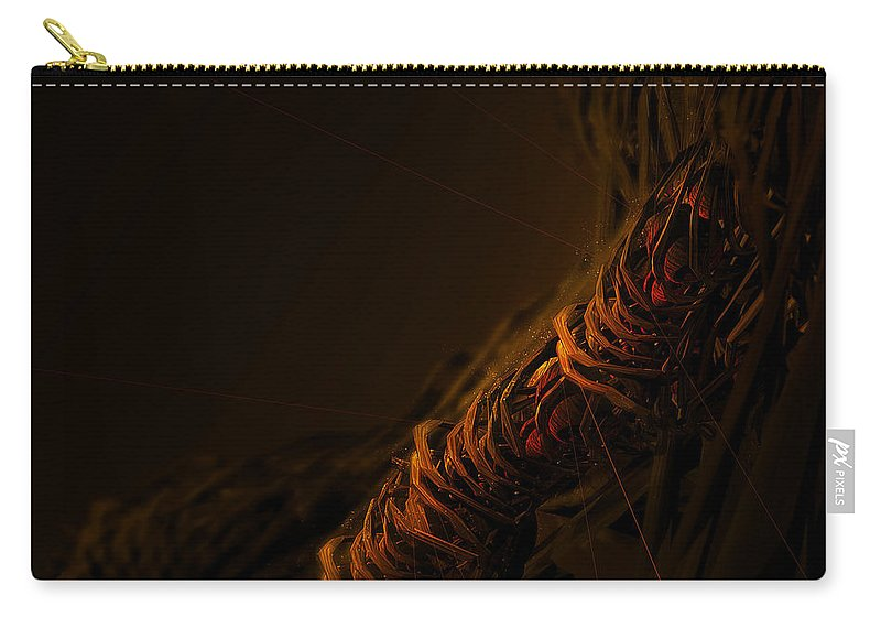 Cool Carry-all Pouch featuring the digital art Cool by Maye Loeser