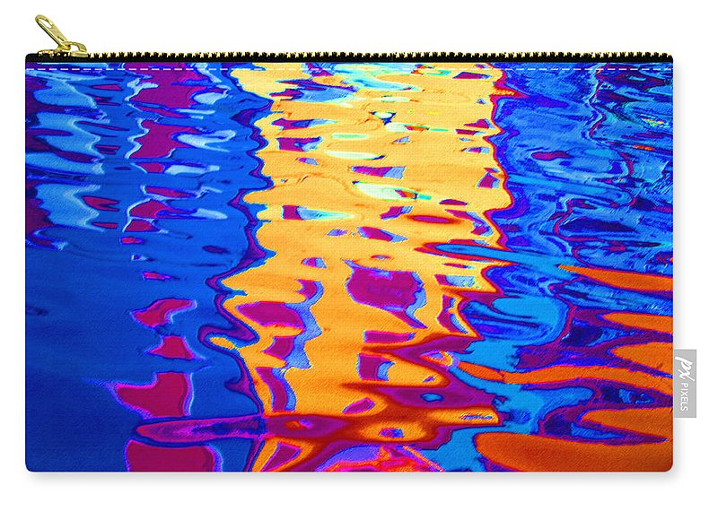 Abstract Carry-all Pouch featuring the pastel Cool Meets Warm by Donna Corless