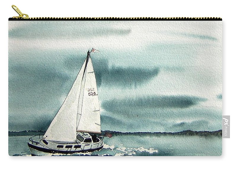 Sailing Carry-all Pouch featuring the painting Cool Sail by Gale Cochran-Smith