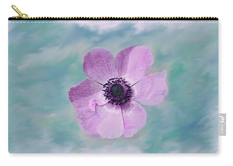 Flowers Floral Macro Nature Gardens Pink Purple Blue Green White Petals Spring Flowers Carry-all Pouch featuring the photograph Cool Spring by Linda Sannuti