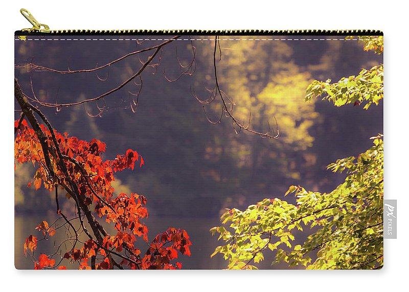 Day Carry-all Pouch featuring the photograph Cool Vermont Autumn Day by Sherman Perry