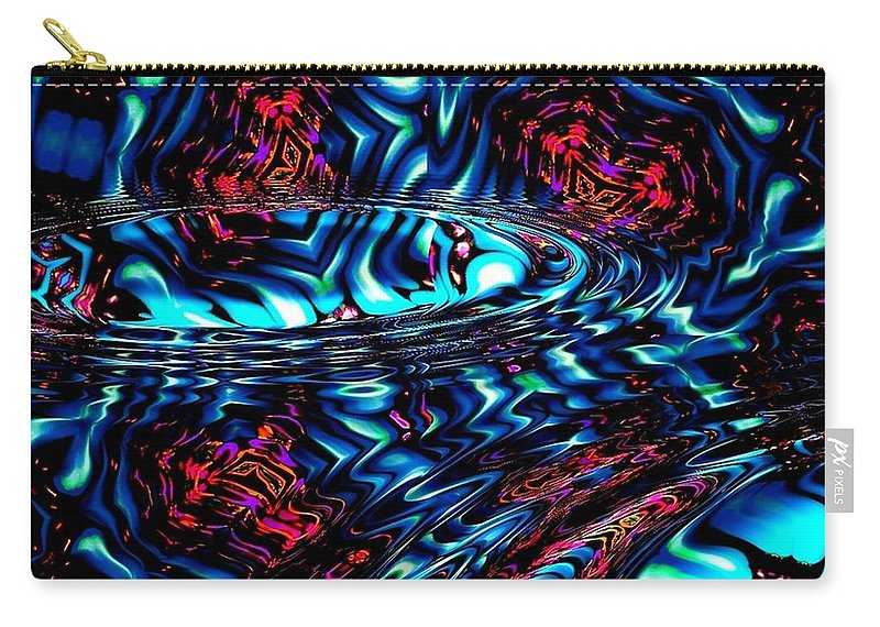 Abstract Carry-all Pouch featuring the digital art Cool Water by Robert Orinski