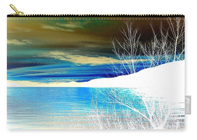 Winter Carry-all Pouch featuring the digital art Cool Waters by Will Borden