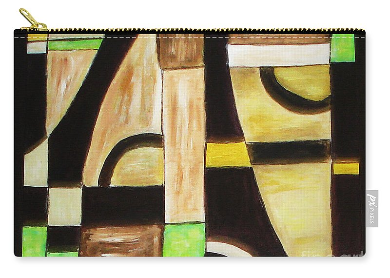 Acrylic Painting Carry-all Pouch featuring the painting Cool by Yael VanGruber