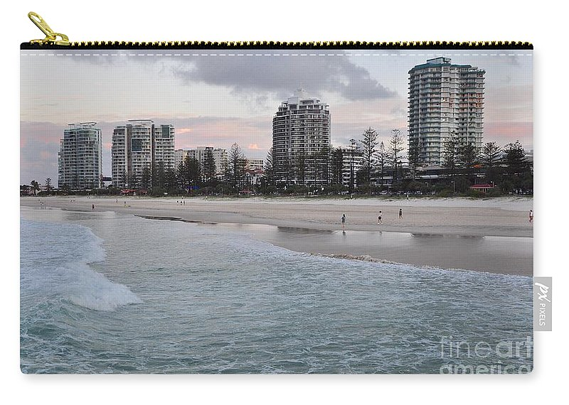 Gold Coast Carry-all Pouch featuring the photograph Coolangatta Sunset by Csilla Florida