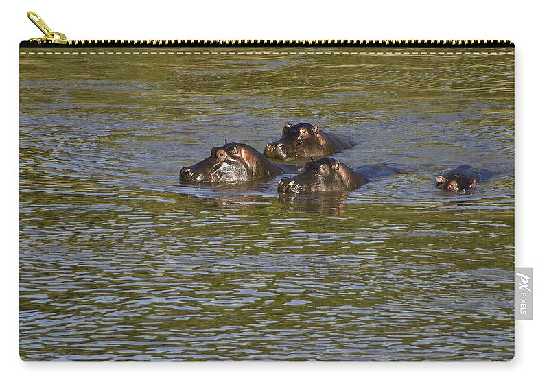 Africa Carry-all Pouch featuring the photograph Cooling Off by Michele Burgess