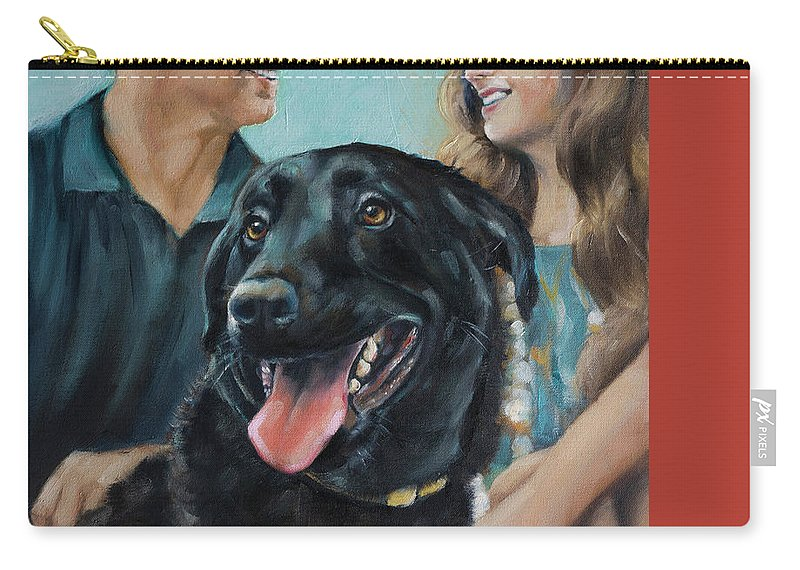 Scotty Carry-all Pouch featuring the painting Cooper The Scottie by Julie Dalton Gourgues
