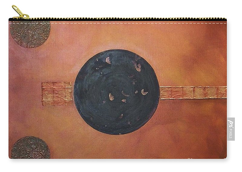 Sets Carry-all Pouch featuring the painting Copper Clad by Marlene Burns