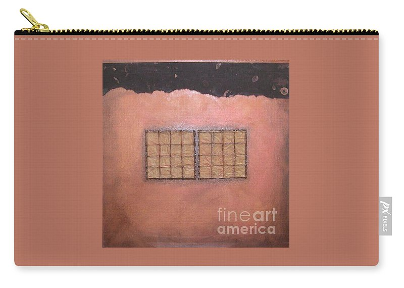 Sets Carry-all Pouch featuring the mixed media Copper Clad Series Number Two by Marlene Burns