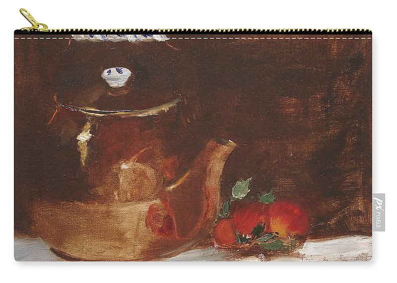 Kitchen Carry-all Pouch featuring the painting Copper Kettle by Barbara Andolsek
