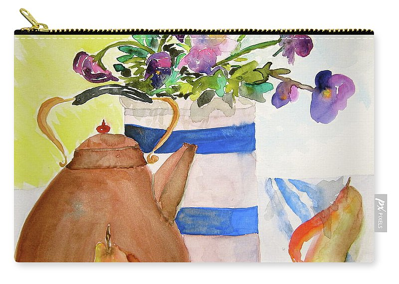 Copper Carry-all Pouch featuring the painting Copper Kettle by Beverley Harper Tinsley
