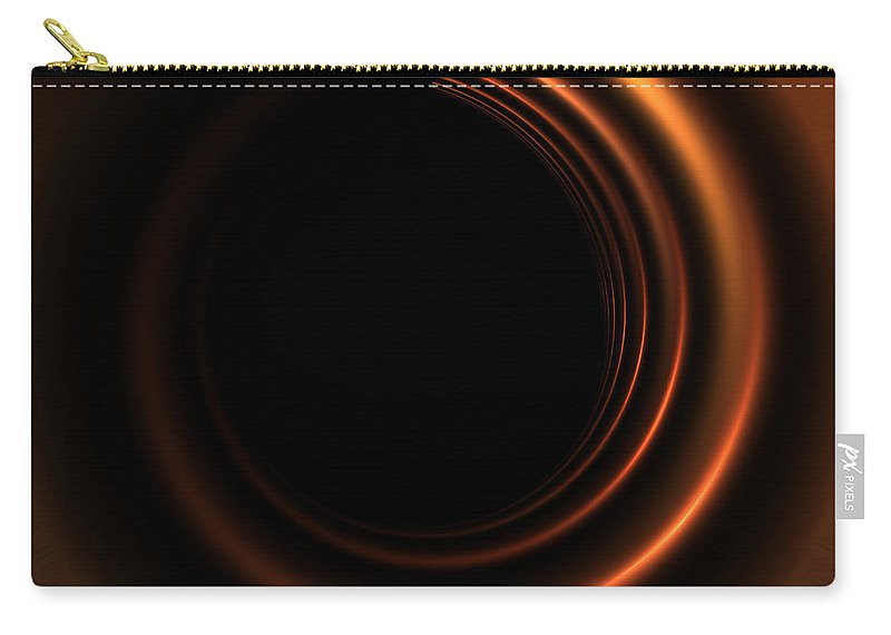 Spiral Copper Copperplate Abstract Light Dark Bright Glance Metal Shiny Color Bronze Carry-all Pouch featuring the digital art Copper by Steve K