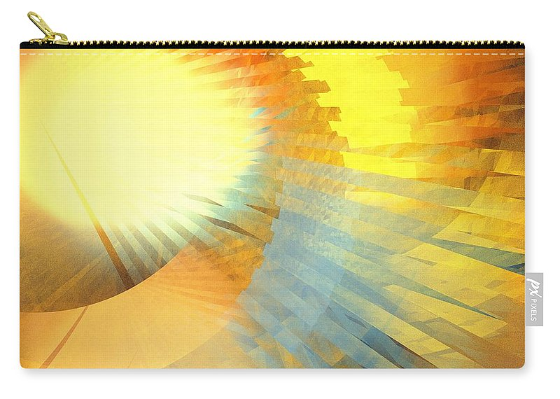 Apophysis Carry-all Pouch featuring the digital art Copper Sunshine by Kim Sy Ok