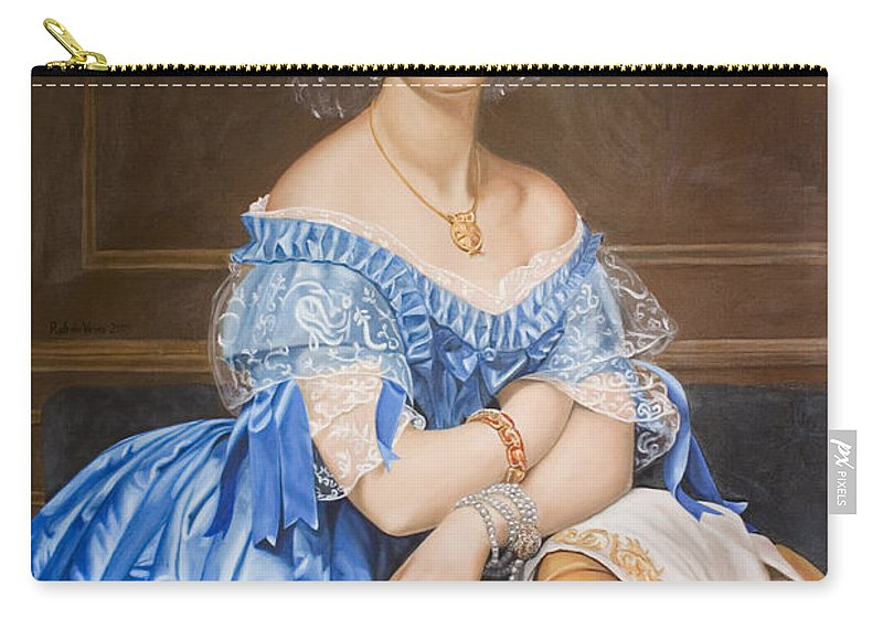 Ingres Carry-all Pouch featuring the painting Copy After Ingres by Rob De Vries