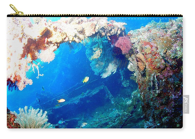 Carry-all Pouch featuring the photograph Coral Archways by Todd Hummel