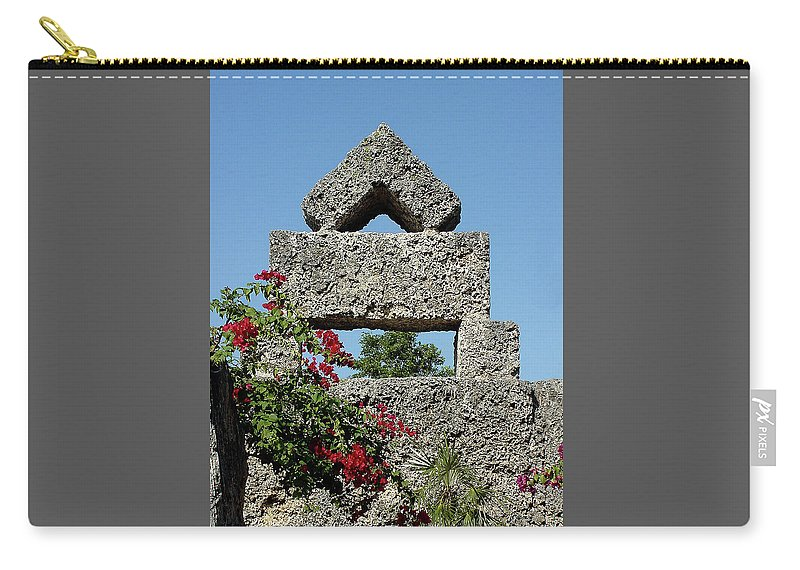 Sunlight Carry-all Pouch featuring the photograph Coral Castle For Love by Shirley Heyn