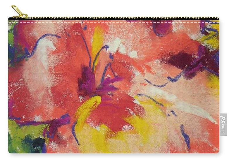 Flower Carry-all Pouch featuring the painting Coral Glad by Mary McInnis