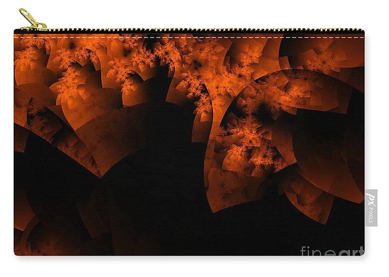 Coral Reef Carry-all Pouch featuring the digital art Coral Reef by Ron Bissett