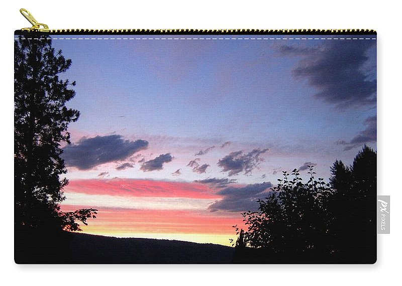 Sunset Carry-all Pouch featuring the photograph Coral Sunset by Will Borden