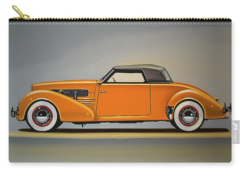 Cord 810 Carry-all Pouch featuring the painting Cord 810 1937 Painting by Paul Meijering