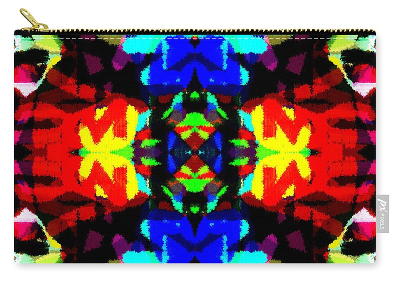 Abstract Carry-all Pouch featuring the digital art Core by Blind Ape Art