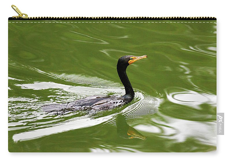 Double-crested Cormorant Carry-all Pouch featuring the photograph Cormorant by Randall Ingalls