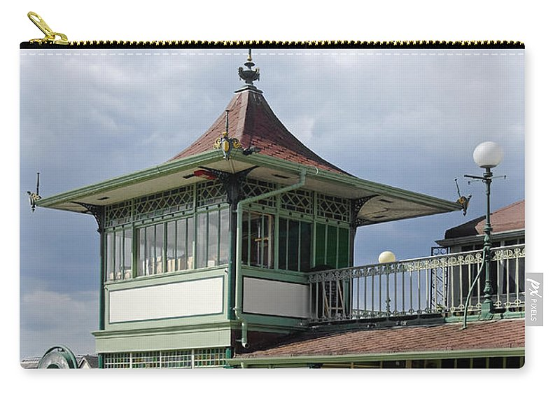 Ryde Carry-all Pouch featuring the photograph Corner Detail Of The Pavilion - Ryde by Rod Johnson