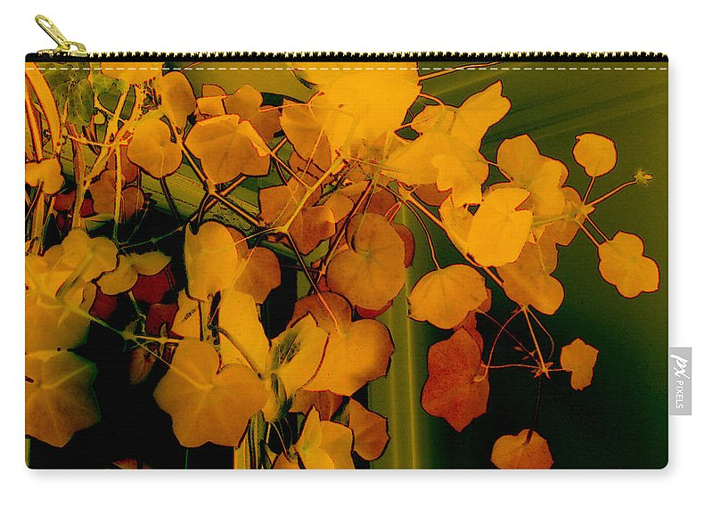 Autumn Carry-all Pouch featuring the digital art Corner In Green And Gold by RC DeWinter