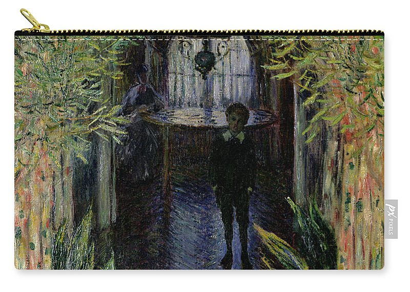 Corner Of A Flat At Argenteuil Carry-all Pouch featuring the painting Corner Of A Flat At Argenteuil by Claude Monet