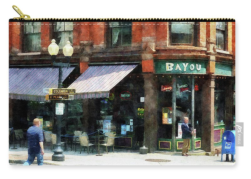 Albany Carry-all Pouch featuring the photograph Corner Of Columbia And Pearl Albany Ny by Susan Savad