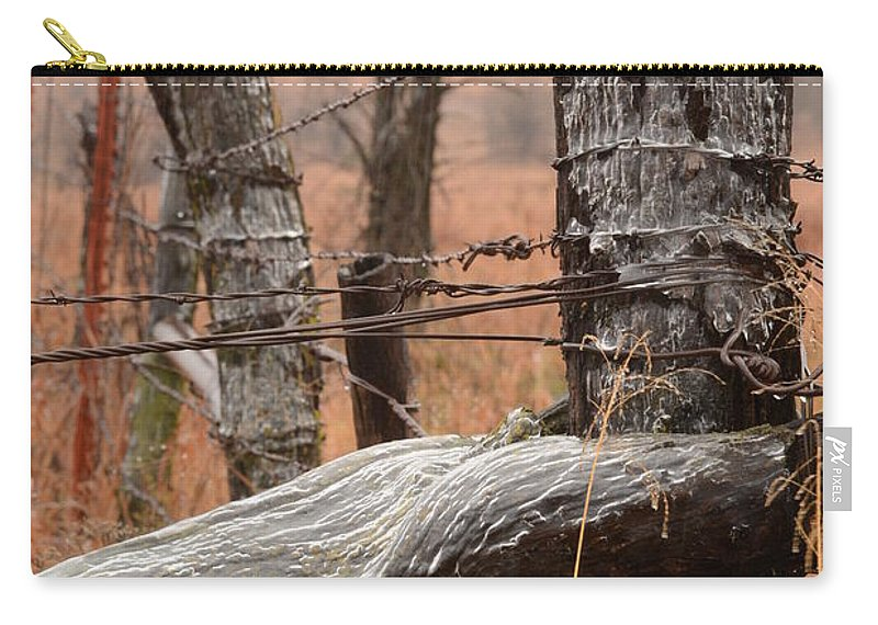 Landscape Carry-all Pouch featuring the photograph Corner Post by Audie T Photography